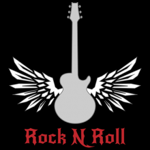 Rock n roll guitar with wings