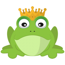 Frog prince with gold crown T-shirts
