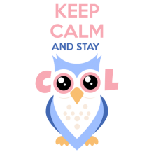 Keep calm and stay cool owl