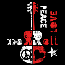 Peace Love and Rock and Roll guitar