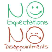 no expectations no disappointments sad and happy smiley faces