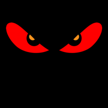 Red angry eyes
