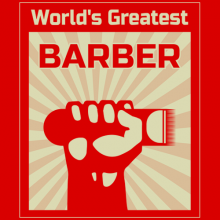 Hand power poster World's greatest barber apparel