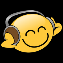 Cheerful Smiley Listening to Music On Headphones Tees