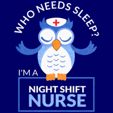 Owl Nurse Who Needs Sleep