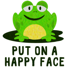 Put on a happy face frog Clothes