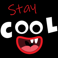 Stay cool funny monster laughing tees