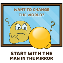 If you want to change the world start with the man in the mirror shirts
