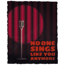No one sings like you anymore vintage microphone on an empty stage