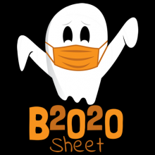 2020 is Boo Sheet Halloween ghost wearing a face mask gifts