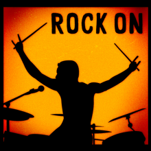 Rock drummer Rock on T-shirts